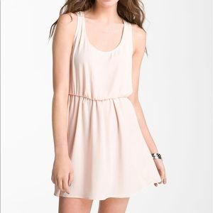 Lush Open Back Dress with Pockets